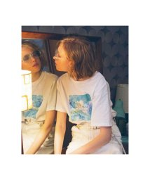 REDYAZEL/ボックスマーブルプリントTシャツ/503183031