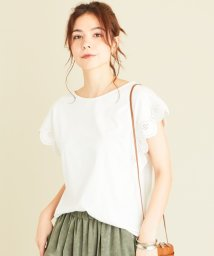 BEAUTY&YOUTH UNITED ARROWS/【WEB限定】by ※刺繍レースフレンチスリーブカットソー -ウォッシャブル-/503196500