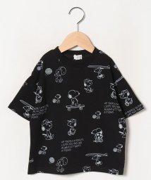 b-ROOM/【PEANUTSコラボ】 スヌーピースポーツビッグシルエット総柄Tシャツ/503196710