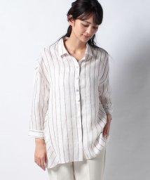 Leilian/チュニック丈麻シャツ/503216213