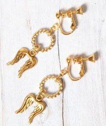 WYTHECHARM/S ゴールドウィング×装飾リングイヤリング/503252485