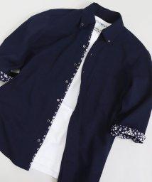 Men's Bigi/クールマックスサッカー7分袖ワンピースシャツ/503252532