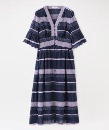 LOVELESS WOMEN/楊柳 ボーダー ドレス/503192933
