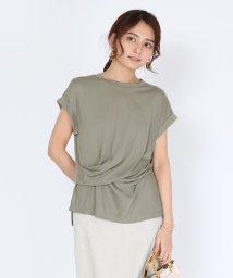 SCOTCLUB/Bouchon(ブション) サイドツイストドレープTシャツ/503260230