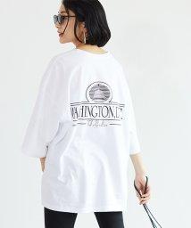 coca/バックプリント英字ロゴ Tシャツ/503260625