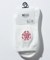 WEGO/WEGO/モチーフ刺繍ソックス/502902050