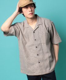 STYLEBLOCK/綿麻チェックオープンカラー開襟半袖シャツビッグシャツビッグシルエットオーバーサイズ/503114975
