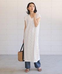 Bou Jeloud/カットワーク刺繍ベルト付きワンピース/503125833