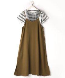 NICOLE white/キャミワンピースXテレコボーダーTシャツ/503166245