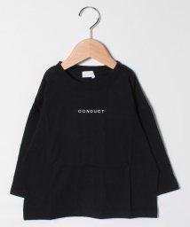 b-ROOM/肘パッチ付ビッグTシャツ/503206220