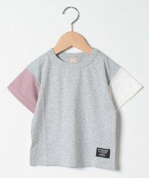 petit main/袖配色切り替えTシャツ/503216701