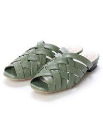 RiiiKa/リーカ RiiiKa クロスデザインサンダル (green)/503264339