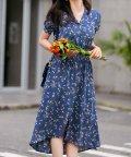 SAISON DE PAPILLON/フィッシュテール花柄ワンピース/503264749