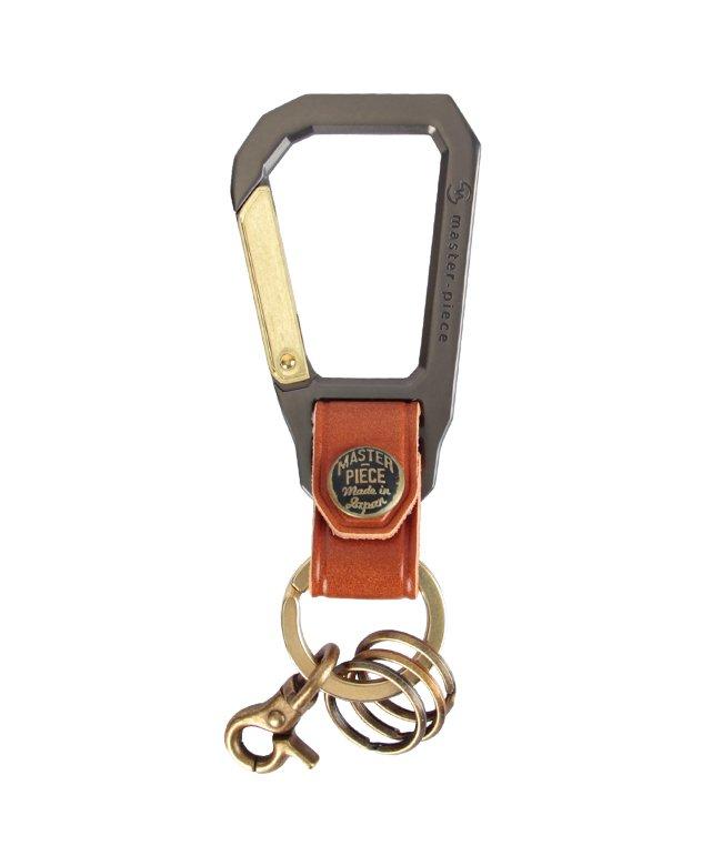 カバンのセレクション マスターピース カラビナ キーホルダー キーリング メンズ 本革 master−piece 02000 ユニセックス キャメル フリー 【Bag & Luggage SELECTION】