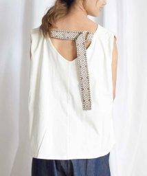 ARGO TOKYO/Back belt flare sleeveless tops 24149/503265155