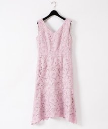GRACE CONTINENTAL/刺繍セミロングドレス/503266011