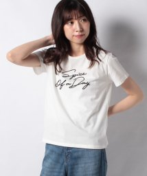 Afternoon Tea LIVING/ロゴ刺繍Tシャツ/503189336