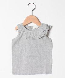 b-ROOM/アシメントリーフリルノースリーブTシャツ/503206218
