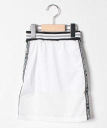 X-girl Stages/インナーパンツつきサイドロゴメッシュロングスカート/503206234