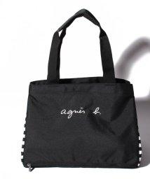 agnes b. ENFANT/GL11 E BAG ロゴ&ボーダーマザーズバッグ/503248877