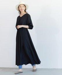 coca/バルーンスリーブとろみ素材ワンピース/503261913