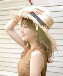 Julia Boutique/つば広フリンジストローハット・帽子/550134/503263308