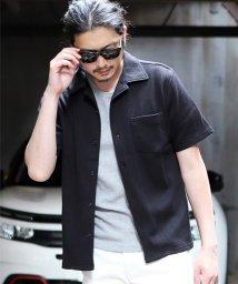 RATTLE TRAP/袖開襟型タック編み半ラバー&エンボスシャツ/503266181