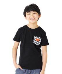 GLAZOS/天竺・チェッカーフラッグポケット半袖Tシャツ/503267866