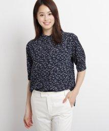 SunaUna/【洗える】シーヨットプリント五分袖ブラウス/503268383