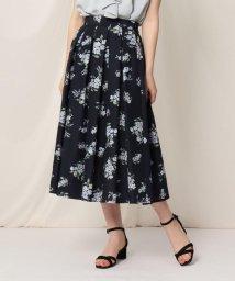 Couture Brooch/【WEB限定サイズ(LL)あり/洗える】ローズプリントフレアスカート/503271040