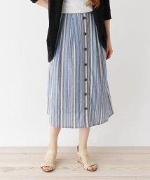 SHOO・LA・RUE/【フリーサイズ】ストライプミモレ丈スカート/503272945