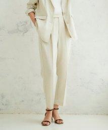 le.coeur blanc/リネンライクテーパードパンツ/502954966