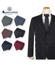 AQUASCUTUM/アクアスキュータム AQUASCUTUM ネクタイ メンズ イタリア製 シルク ビジネス 結婚式 ブラック ネイビー レッド ブルー 黒/503015125