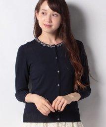Eimy Peal by POWDER SUGAR/襟ビジュ付き七分袖カーディガン/503216732