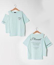 Lovetoxic/アシメ肩開きロゴプリントTシャツ/503246138