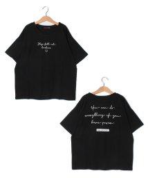 Lovetoxic/吸水速乾 ガーリーロゴ刺しゅうTシャツ/503246142