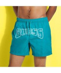 GUESS/ゲス GUESS GUESS x J BALVIN Logo Woven Medium Swim Short (GOLF GREEN)/503268270