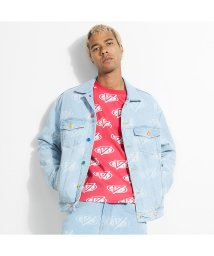 GUESS/ゲス GUESS GUESS x J BALVIN Dillion Oversied Logo Denim Trucker Jacket (PLAYA BLUE/503268285