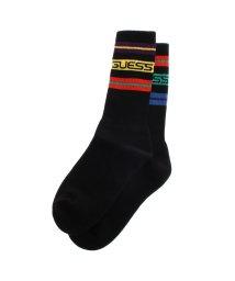 GUESS/ゲス GUESS GUESS x J BALVIN Horizon Stripe Socks (JET BLACK)/503268286