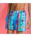 GUESS/ゲス GUESS GUESS x J BALVIN Smile Tie-Dye Swim Short (BLUE PINK AND GREEN TDYE)/503268288