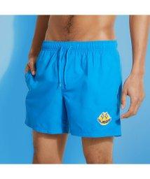 GUESS/ゲス GUESS GUESS x J BALVIN Smile Woven Medium Swim Short (ATMOSPHERE BLUE)/503268298