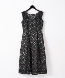 GRACE CONTINENTAL/フラワー配色刺繍ドレス/503274963