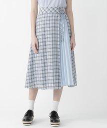 BLUE LABEL CRESTBRIDGE/マイクロチェックドレープローンスカート/503275595