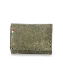 Milagro/ミラグロ Milagro イタリアンヌバック 三つ折り財布 (グリーン)/503276633