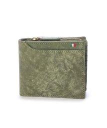 Milagro/ミラグロ Milagro イタリアンヌバック 23ポケット二つ折り財布 (グリーン)/503276636