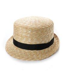 Tanaka-Hat/タナカ ハット 田中帽子店 コレット キャノチェ型カンカン帽 (ナチュラル)/503276825