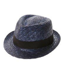 Tanaka-Hat/タナカ ハット 田中帽子店 Noah(ノア)麦わら中折れ帽子 (ブルー)/503276833