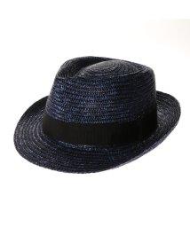 Tanaka-Hat/タナカ ハット 田中帽子店 Noah(ノア)麦わら中折れ帽子 (ブルー)/503276836