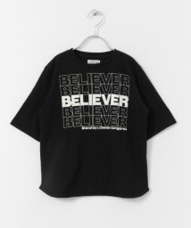 URBAN RESEARCH DOORS(Kids)/【5/29新入荷】DENIM DUNGAREE テンジク BELIEVER Tシャツ(KIDS)/503277389