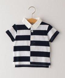 SHIPS KIDS/SHIPS KIDS:ボーダー ラガー シャツ(80~90cm)/503277600
